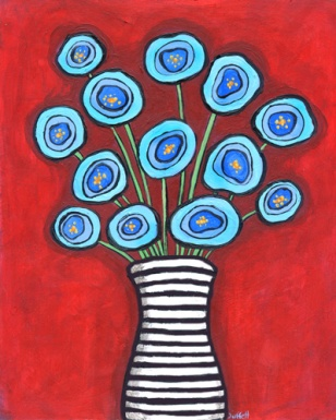 Blue Poppies by Shelagh Duffett