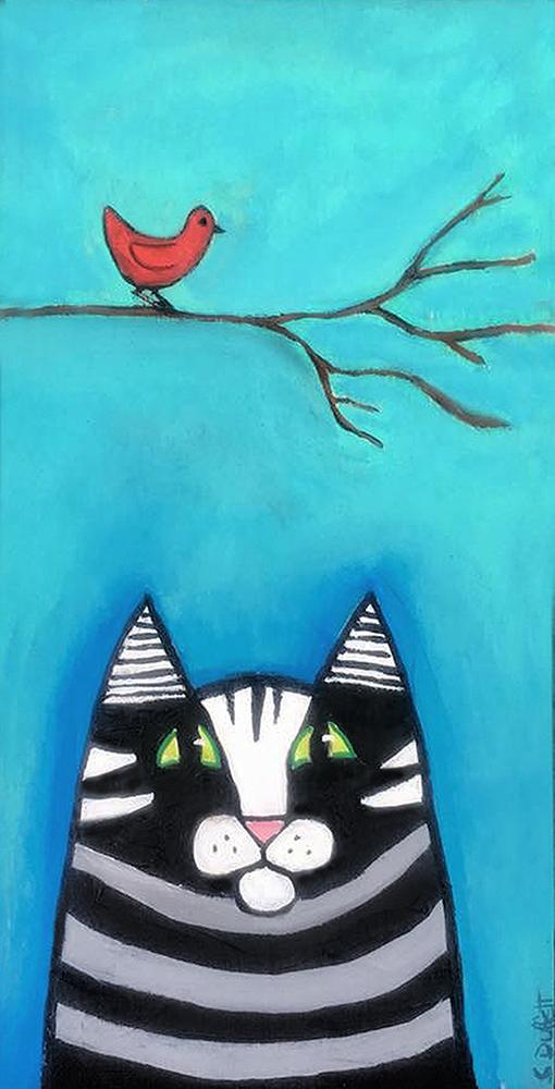 stripedcatredbird
