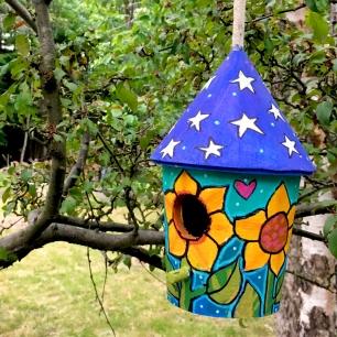 sunfloweroundbirdhouse2019